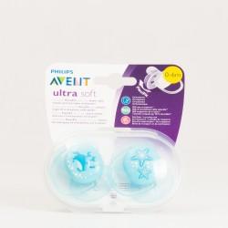 Avent Chuete Ultra Soft Azul 0-6 m, 2 Uds.