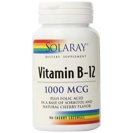 Solaray Vitamina B-12 & Ácido fólico, 90 Comp. Subl.