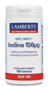 LAMBERTS Yodo 150 µg, 180 comprimidos.