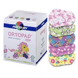 Ortopad for Girls, regular, 50 parches oculares.