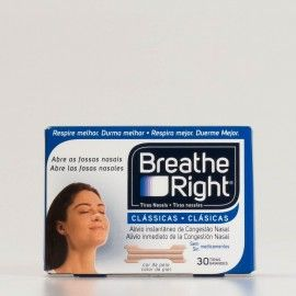 Breathe Right tiras nasales grandes, 30 uds