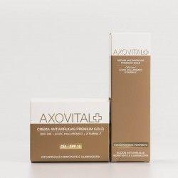 Axovital Antiarrugas Premium Gold pack crema y serum