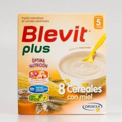 Blevit Plus 8 Cereales con Miel, 600g.