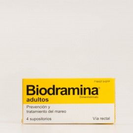 Biodramina supositorios adulto