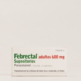 Febrectal adultos 600mg supositorios