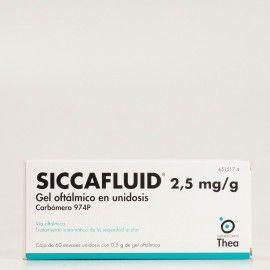 Siccafluid 2,5mg/g gel oftálmico 60 unidosis