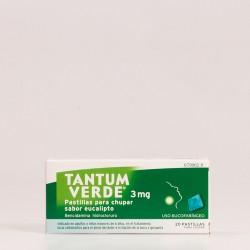 Tantum Verde 3 mg Pastillas para chupar sabor Eucalipto.
