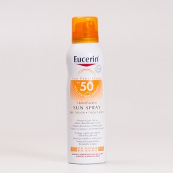 Eucerin Sun SPF50+ Spray Transparent Dry Touch, 200ml.
