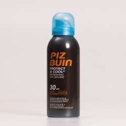 Piz Buin SPF30 Protect & Cool Mousse Solar Refrescante, 150ml.