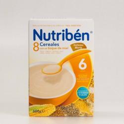 Nutribén 8 Cereales, Miel y Galletas María, 600g.