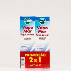 Vapomar Hipertónico Spray Nasal Agua de Mar, 2x100ml.