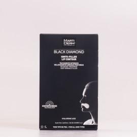 Martiderm Black Diamond Ionto-Filler Contorno de Labios, 4 parches + 4ml Gel.