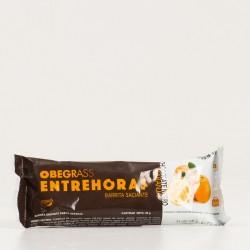 Obegrass Entrehoras Barrita Saciante Chocolate Negro y Naranja.