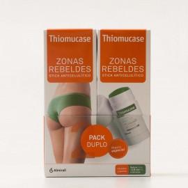 Thiomucase Zonas Rebeldes Stick Anticelulitico duplo, 2x75ml.