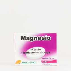 Vallesol Magnesio, Calcio, Soja, 24 Comp Masticables.