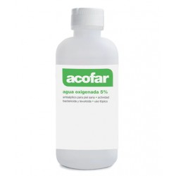 Acofar Agua oxígenada 5%, 250 ml.